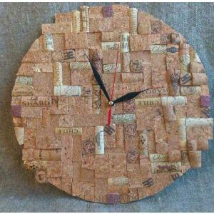 "Cork wall clock ""Cork puzzle"""
