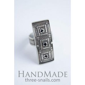 "Costume rings ""Three squares"""