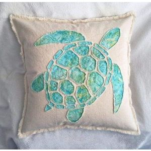 Cotton pillowcase with a turtle