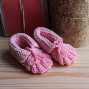 "Crochet booties ""Murshmallow"""