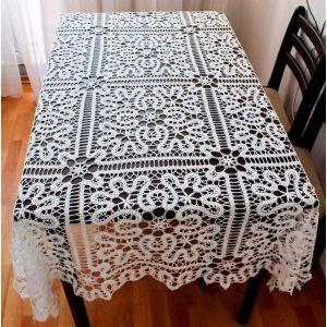 "Crochet Lace Tablecloth ""Fairy"""