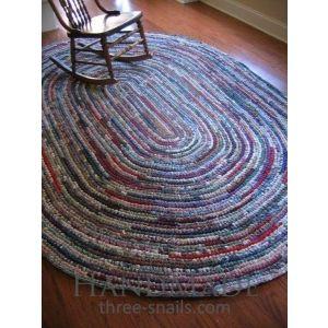 Crochet living room area rug