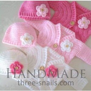 "Crochet newborn outfits ""Flower"""