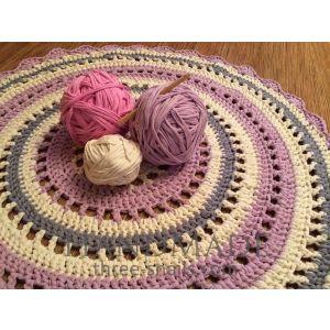 "Crochet openwork rug ""Spring violet"""