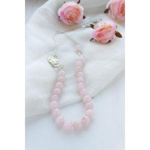 "Crystal powder beads necklace ""Soap bubbles"""