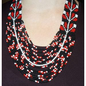 "Cunky beaded necklace ""Nightingale"""