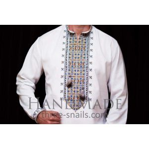 Custom embroidered apparel. Men shirt (vyshyvanka)