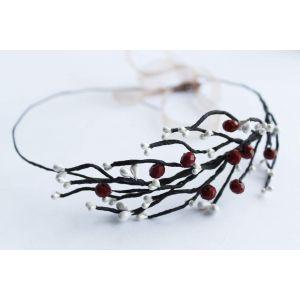 "Custom headbands ""Red berries"""