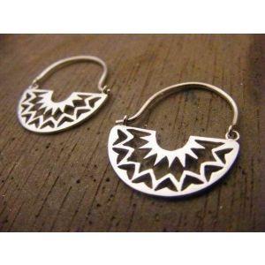 Cute gypsy silver earrings