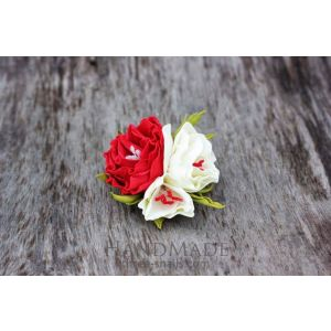 Cute hair accessories with flowers. Barrette «Flower field»