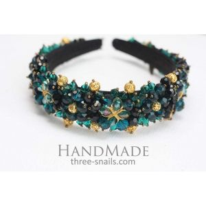 "Cute headbands ""Emerald crysral"""