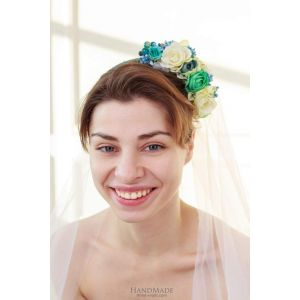 "Cute headbands for women ""Spring bunch of flowers"""