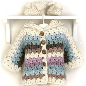 "Newborn knitted jacket ""Rainbow"""