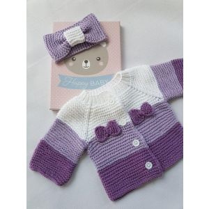 Baby girl purple knitted set
