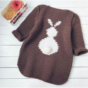 "Girls knitted sweater ""Cute Bunny"""