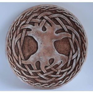 "Decorative ceramic plate ""Celtic knot"""