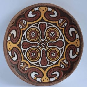 "Decorative ceramic plate ""Heavy crop"""