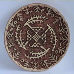 "Decorative ceramic plate ""Trypillian pattern"""