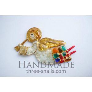 """Decorative figurines """"Golden angels"""""""