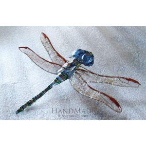 "Decorative glass dragonfly ""Ephemeral grace"""