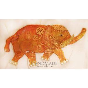 "Decorative glass elephant ""Sunny journey"""