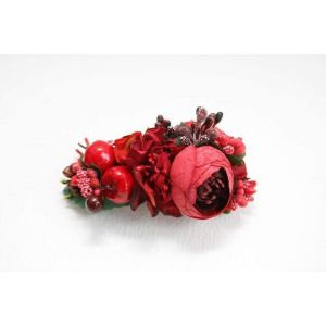 "Decorative hair clips ""Red flowers"""