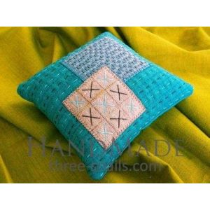 Decorative patchwork pillow cover