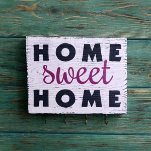 "Decorative wall hook ""Home sweet home"""
