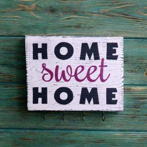 "Decorative wall hook ""Home sweet home"""