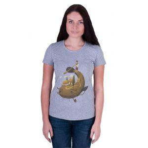 Designer Lady clothes. Woman T-shirt «Big fish»