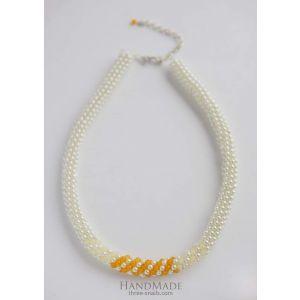 """Designer necklaces. Massive jute """"Isabel"""""""