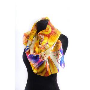 "Designer silk scarves ""Beautiful flower"""