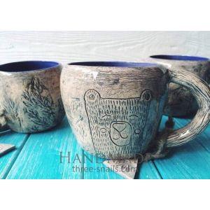 """Designers mug """"Kind bear"""""""