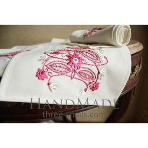 "Dinner napkins""Pink flowers"""