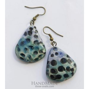 "Drop earrings ""Sea beach"""