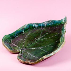 Leaf form plate