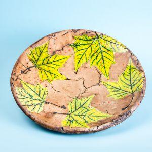 Ceramic plant pattern plate