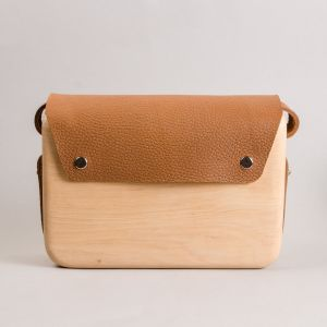 Wooden shoulder bag