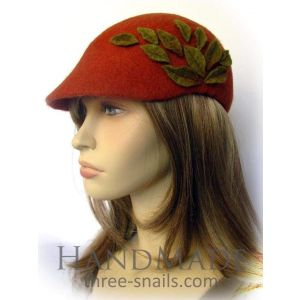 "Duckbill flat cap ""Autumn leaves"""