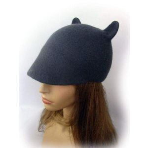 "Duckbill flat cap with ears ""Grey mousy"""