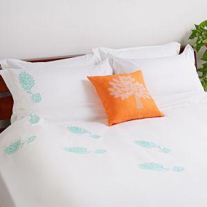 "Duvet cover linen bedding set ""Mint Mojito"""