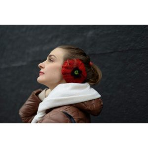 "Ear muffs for winter ""Poppy"""