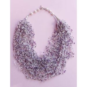 """Earring necklace set """"Tenderness of lilac"""""""