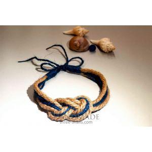 """Eco jute necklace """"Celtic knot"""""""