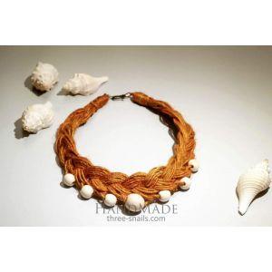 "Eco jute necklace ""Desert breath"""