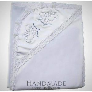 Embroidered blanket for christening