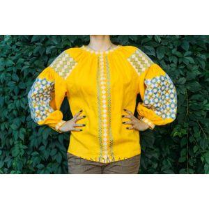 "Embroidered blouse vyshyvanka""Sunny"""