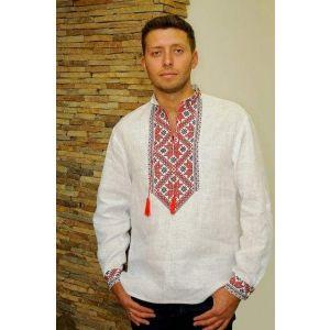 "Embroidered dress shirt for men ""Talisman"""