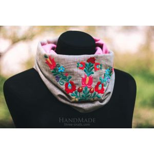 Embroidered Scarf-collar