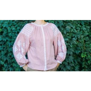 "Embroidered woman blouse ""Pink dream"""
